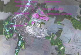 Carte des zones arides révélant la géologie du site
